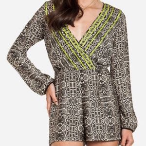Anthropology Dolce Vita Romper  print size Small